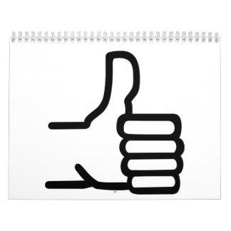 Thumbs up wall calendar