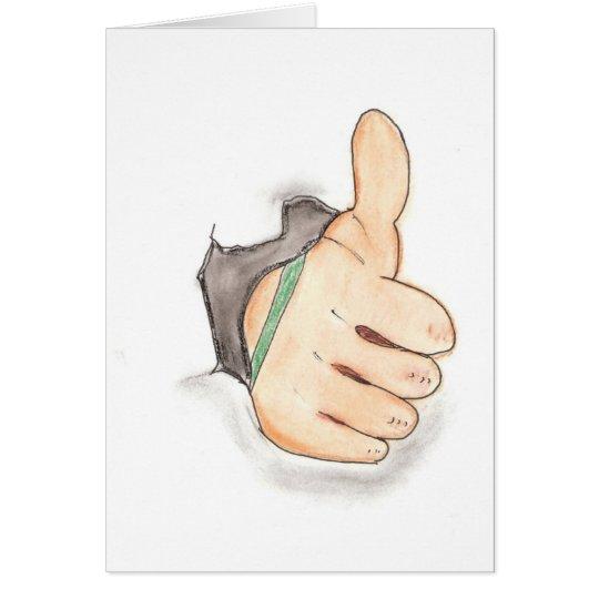 Thumbs up card