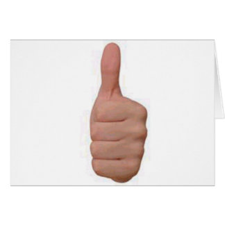 Thumbs up! card