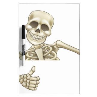 Thumbs Up Cartoon Halloween Skeleton Dry-Erase Board