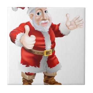 Thumbs up cartoon Santa Tiles