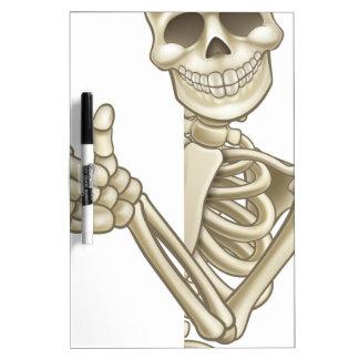 Thumbs Up Cartoon Skeleton Sign Dry-Erase Board