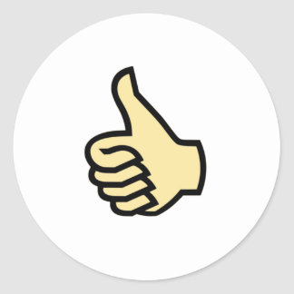 Thumbs Up Classic Round Sticker