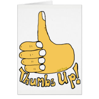 Thumbs Up Congratulations Cartoon Card