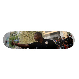 Thumbs Up - Cop at  Funeral in LA Skate Deck