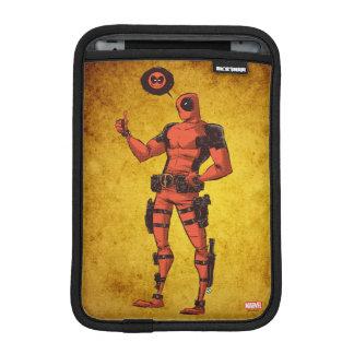 Thumbs Up Deadpool With Emote iPad Mini Sleeve