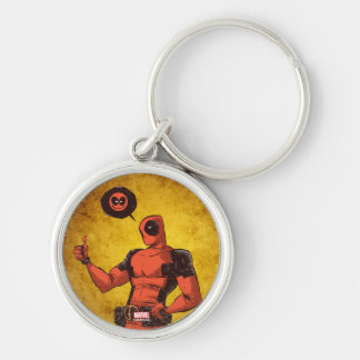Thumbs Up Deadpool With Emote Keychain