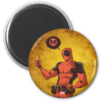 Thumbs Up Deadpool With Emote Magnet
