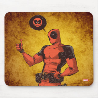 Thumbs Up Deadpool With Emote Mouse Pad