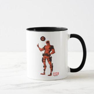 Thumbs Up Deadpool With Emote Mug