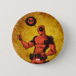 Thumbs Up Deadpool With Emote Pinback Button