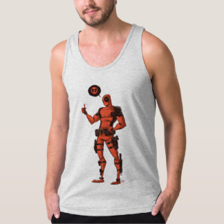 Thumbs Up Deadpool With Emote Tank Top
