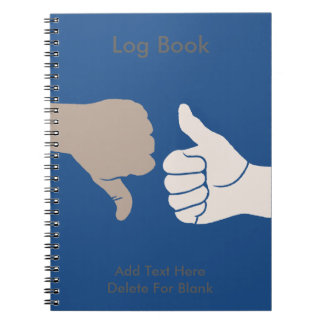 Thumbs Up Down Karma Goes Around Notebook