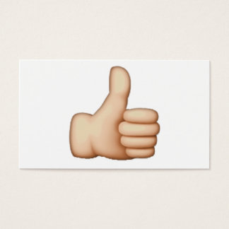 Thumbs Up - Emoji Business Card