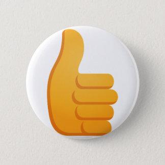 Thumbs Up Emoji Pinback Button