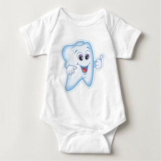 Thumbs up for dental hygiene! baby bodysuit
