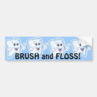 Thumbs up for dental hygiene! bumper sticker