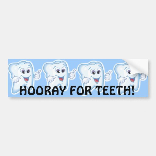 Thumbs up for dental hygiene! car bumper sticker