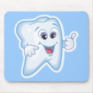 Thumbs up for dental hygiene! mouse pad
