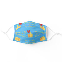 """Thumbs Up For Down Syndrome"" Awareness Reusable Adult Cloth Face Mask"