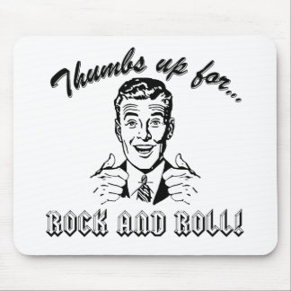 Thumbs Up For Rock and Roll Mouse Pad