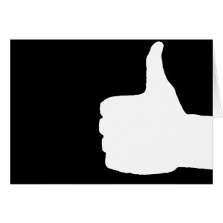 Thumbs Up Gesture, Black Back Card