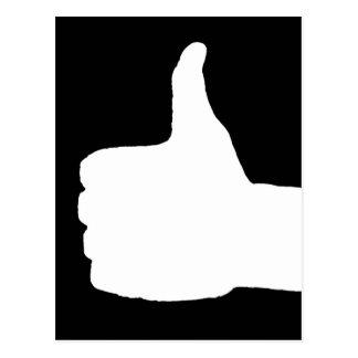 Thumbs Up Gesture, Black Back Postcard