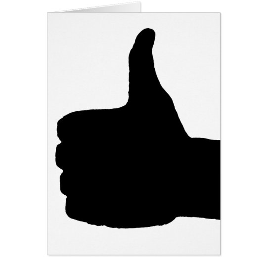 Thumbs Up Gesture, White Back Card
