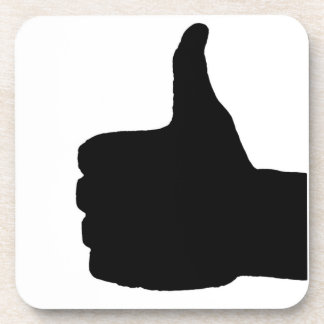 Thumbs Up Gesture, White Back Coaster