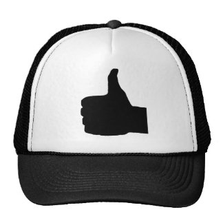Thumbs Up Gesture, White Back Mesh Hat