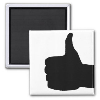 Thumbs Up Gesture, White Back Magnet
