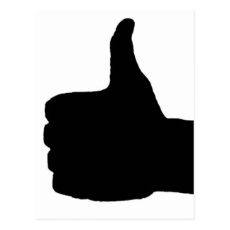 Thumbs Up Gesture, White Back Postcard