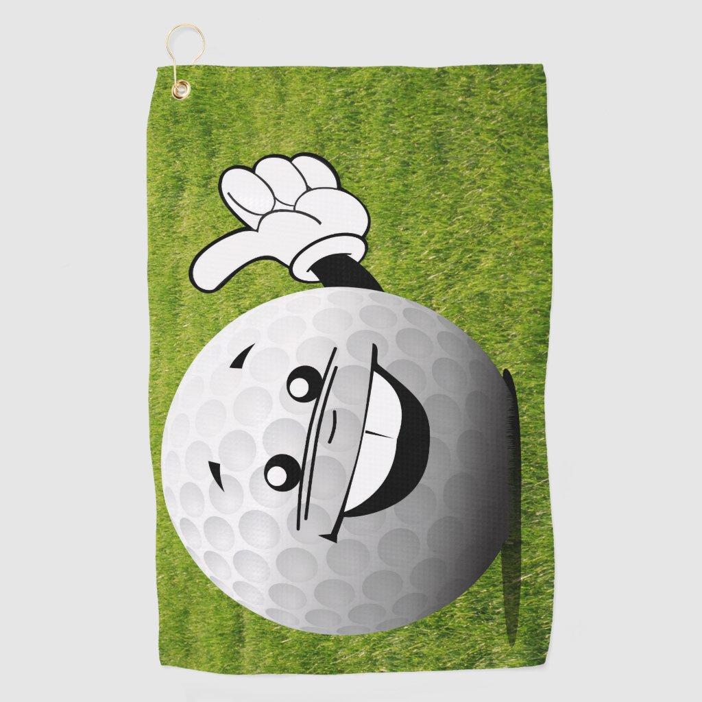 Thumbs Up Golf Ball Golf Towel