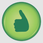 Thumbs up green approval stickers