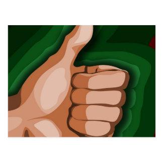 Thumbs up Hand Funny Photo Custom Graphic Design Postcard