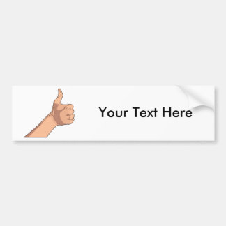 Thumbs Up / Hitchhiking Hand Sign Gesture 2 Bumper Sticker