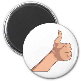 Thumbs Up / Hitchhiking Hand Sign Gesture 2 Magnet