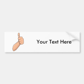 Thumbs Up Hitchhiking Hand Sign Gesture 3 Bumper Sticker
