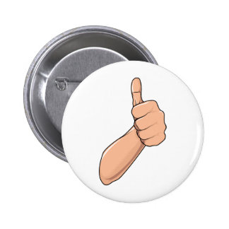 Thumbs Up / Hitchhiking Hand Sign Gesture 3 Pinback Button