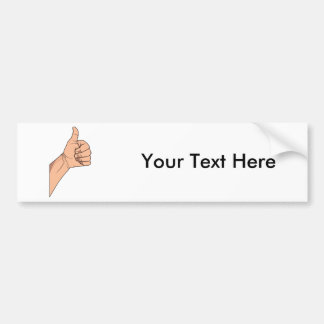 Thumbs Up / Hitchhiking Hand Sign Gesture Bumper Sticker