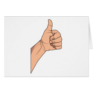 Thumbs Up / Hitchhiking Hand Sign Gesture Greeting Card