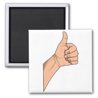 Thumbs Up / Hitchhiking Hand Sign Gesture Refrigerator Magnet