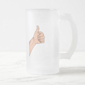 Thumbs Up / Hitchhiking Hand Sign Gesture Mug