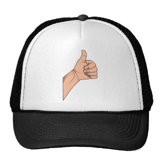 Thumbs Up / Hitchhiking Hand Sign Gesture Trucker Hat