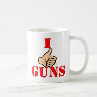 Thumbs Up I Like Guns Coffee Mug