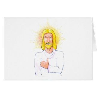 Thumbs up Jesus Card