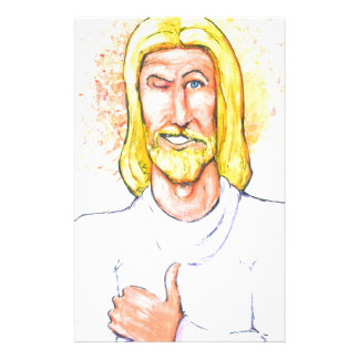 Thumbs up Jesus Stationery