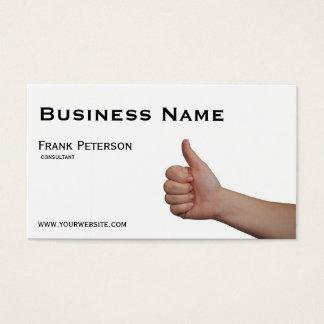 Thumbs up - Like Business Card