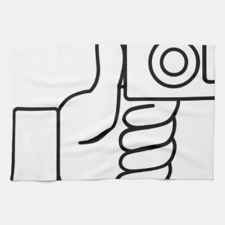 Thumbs Up Like Photo Icon Hand Towels