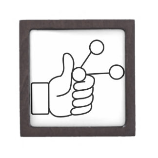 Thumbs Up Like Shared Link Icon Jewelry Box